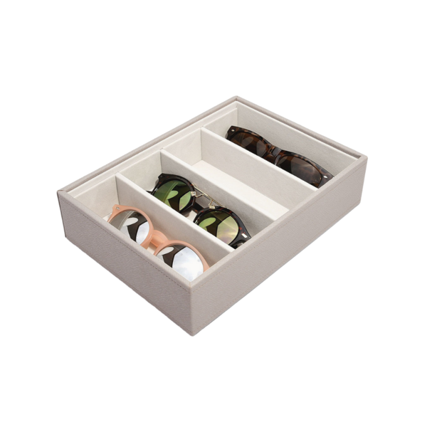 Classic Eyewear Storage Box Taupe & Grey Stackers