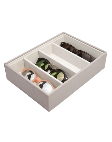 Classic Eyewear Storage Box Taupe & Grey Stackers